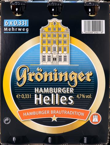 Hamburger Helles 6er Träger Frontal