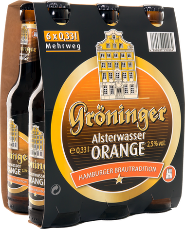 Alsterwasser Orange 6er Träger