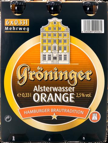Alsterwasser Orange 6er Träger Frontal