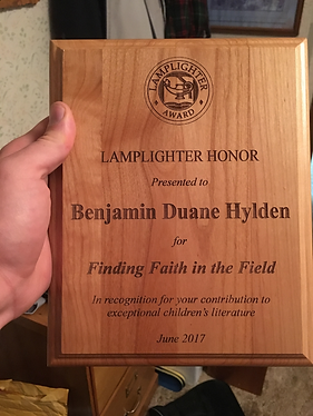 The Lamplighter Honor at The Triple Crown Book Awards
