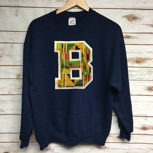 Brown Kente Crew Neck