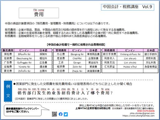 一言中国語レッスンVol.9【費用】