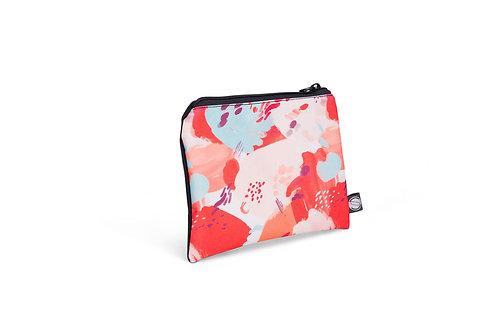Grand sac à collation réutilisable - Motif Abstrait Corail