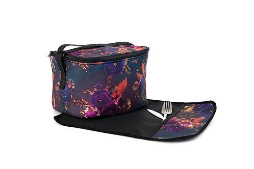Boîte à lunch Alice (Avec napperon) - Motifs Fleurs d'automne
