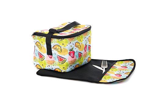 Boîte à lunch Alice (Avec napperon) - Motifs Fruits