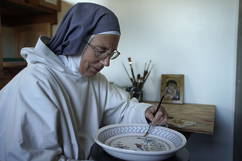 Monastery of Bethelehem, New York, Hand Painted Pottery, Artistry