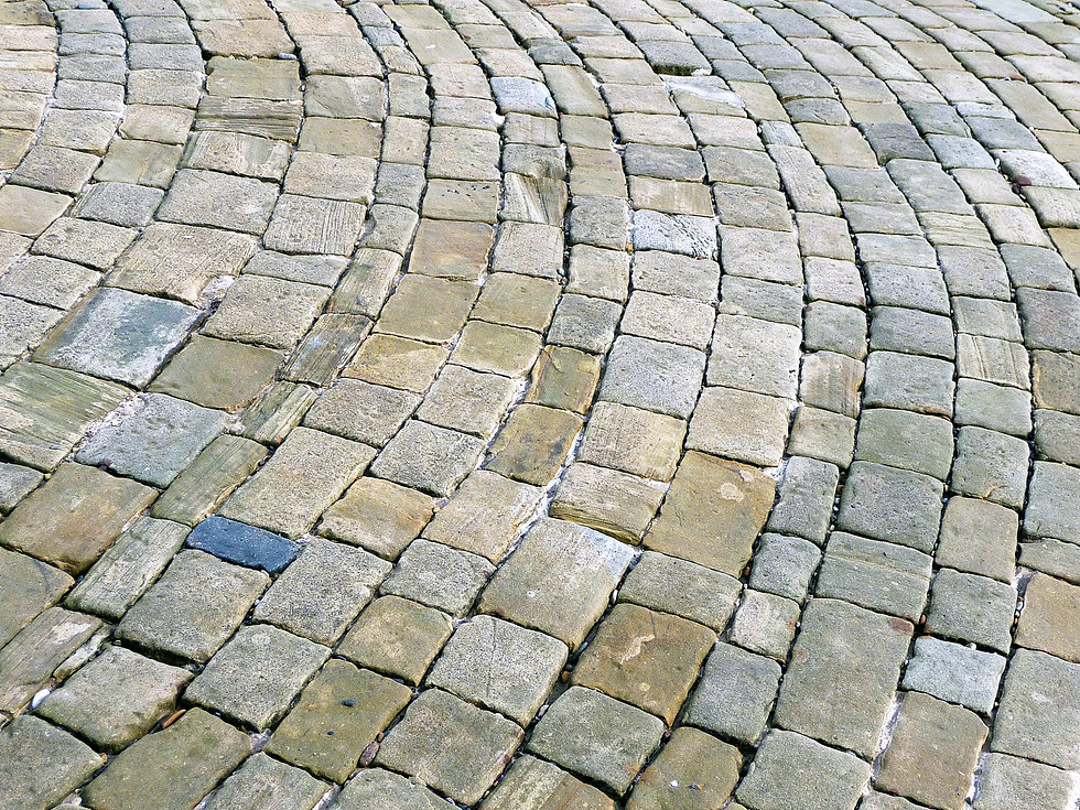 Brick pathway representing the concrete work needed to change the culture of masculinity.