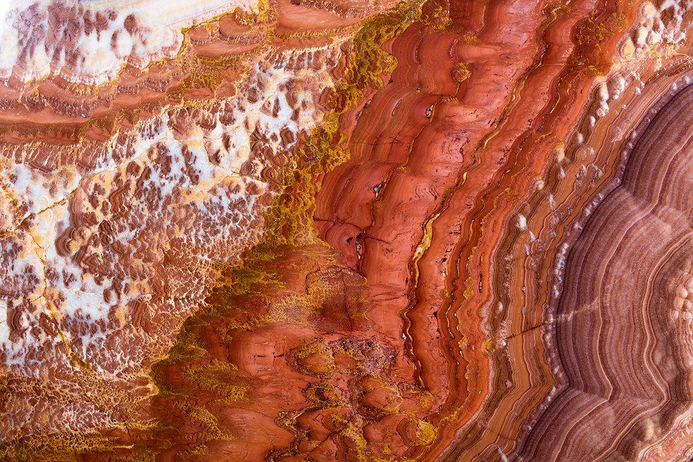 Provocative bird's-eye view of the desert