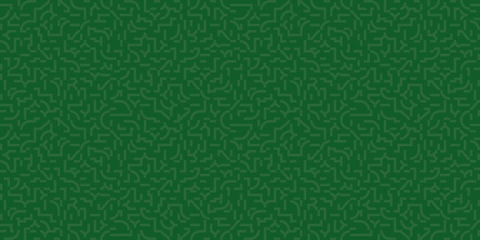 Abstract green graphic representation of 21st century masculinity.