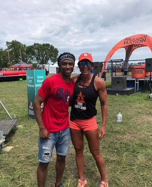 Master Trainer Andrea Logan At Tough Mudder Event