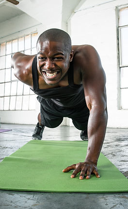Man Doing One-Armed Pushup