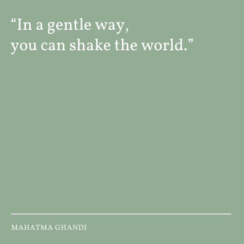 Shaking the world in a gentle way