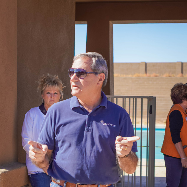 Mr. Contadino explaining some of the new amenities in Granville