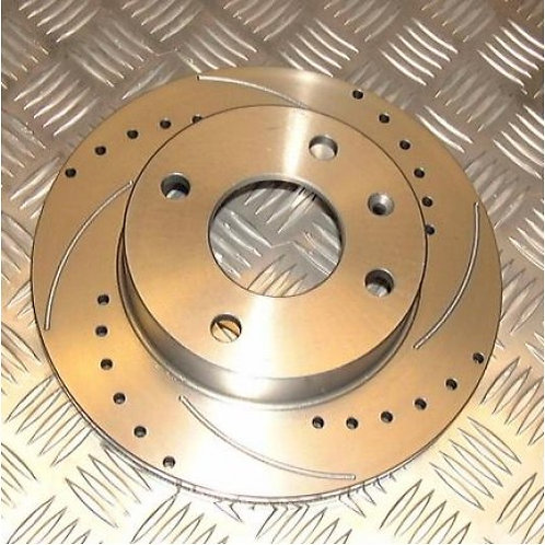 Nitrac Front Brake Discs for R56 MINI Cooper S (Drilled & Grooved)
