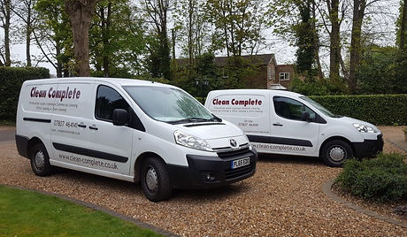 Clean complete vans. Commercial cleaning and carpet cleaning service.