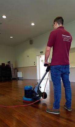 Professional Truvox machine floor cleaning