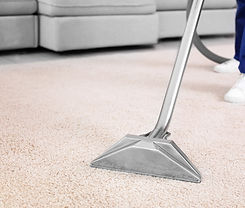 Professional carpet cleaning removing heavy stains. Our machines will leave carpets fresh and clean.