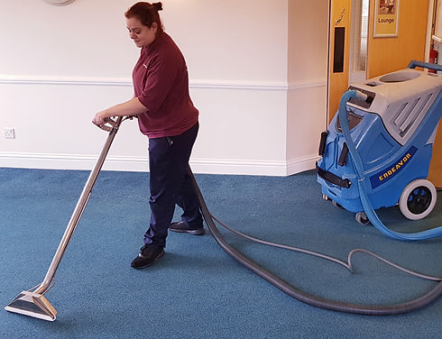 Cleaner carpet cleaning office
