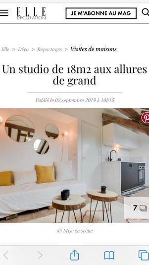 Article Elle Décoration // Projet Tassigny