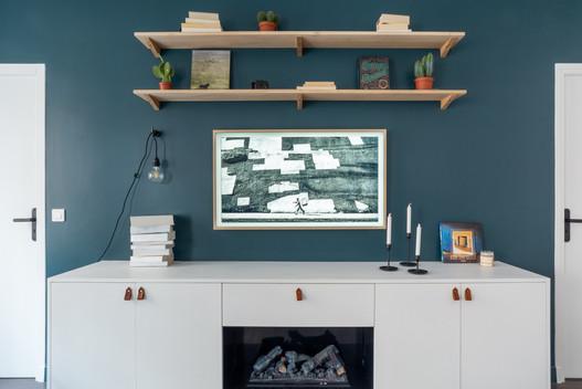 menuiserie sur mesure et TV frame