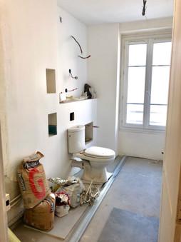 salle de bain pendant les travaux