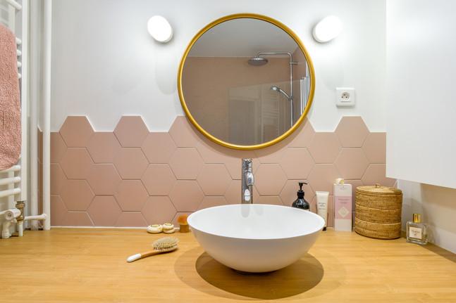 Salle de bain rose