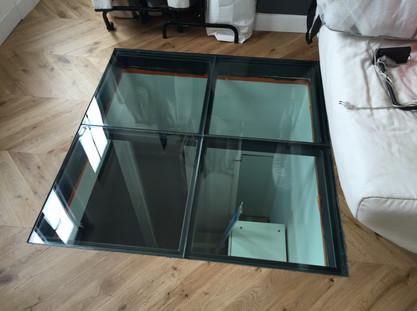 APRES / Pose d'une dalle de verre