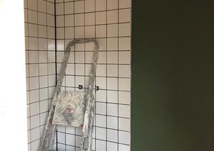 salle de bain en travaux