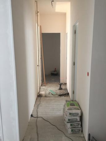 couloir pendant travaux