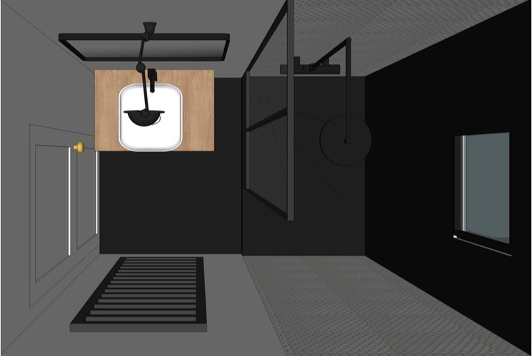 plan au sol de SDB en 3D