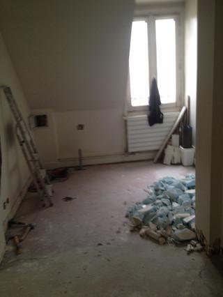 AVANT / Espace Salle de bain avant ouverture de la trémie