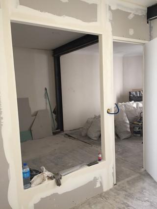 Nouvelle cloison chambre avant pose verrière