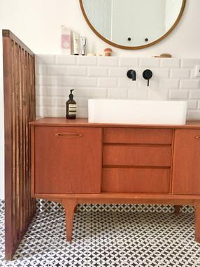 meuble vasque chiné