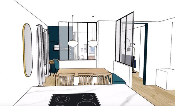 3D cuisine et séjour