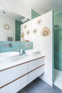 salle de bain parentale zelliges vert pastel