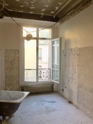 pendant les travaux /ancienne salle de bain