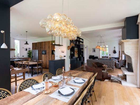 salle à manger, cuisine & salon