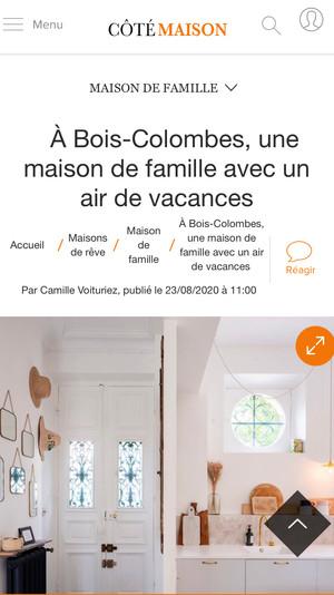 Article Côté Maison // Projet Déroulède
