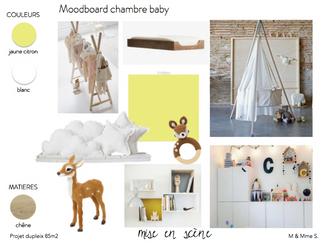 Planche d'ambiance chambre bébé
