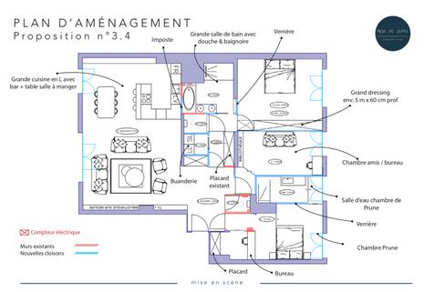plan d'agencement 2D