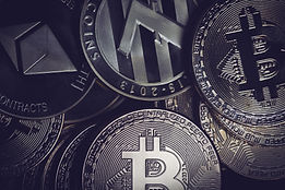 closeup-of-golden-cryptocurrency-coins-P