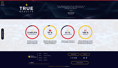 773Designs Website Case Study - True Mentors Statistics