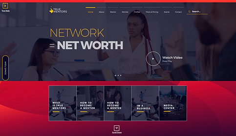 773Designs Website Case Study - True Mentors Home Page