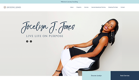 773Designs Website Jocelyn J. Jones Welcome Page