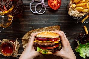 FULL Burger in hand