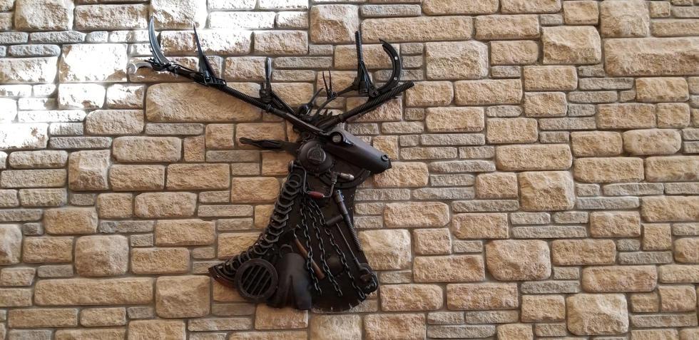 Elk Head Sculpture