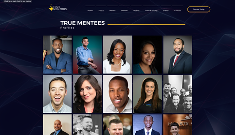 773Designs Website Case Study - True Mentors Mentee Profile Page