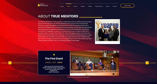 773Designs Website Case Study - True Mentors About Page