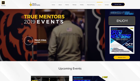 773Designs Website Case Study - True Mentors Event Page
