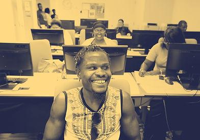 Man sitting in classroom